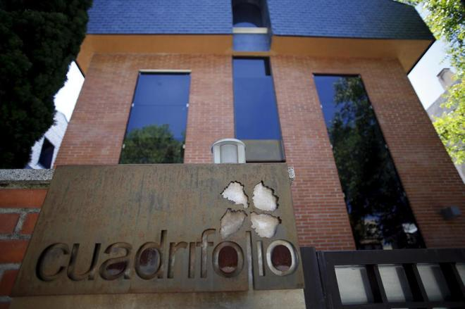 Fachada de la empresa Cuadrifolio, en una imagen de archivo del año...