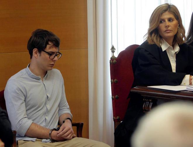 El asesino confeso de Pioz, Patrick Nogueira, durante el juicio por el...