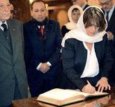 La ministra de Justicia, Dolores Delgado, durante su visita a...