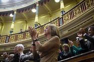 La ex secretaria general del PP, María Dolores de Cospedal, en el Congreso