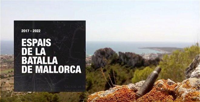 """Logo del proyecto """"Espacios de la Batalla de Mallorca 2017-2022""""."""