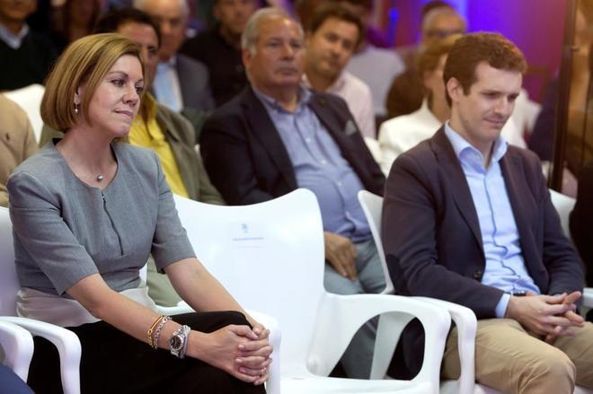 La secretaria general del Partido Popular, María Dolores de Cospedal...