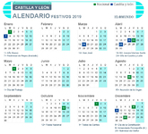 Calendario laboral de 2019 en Castilla y León