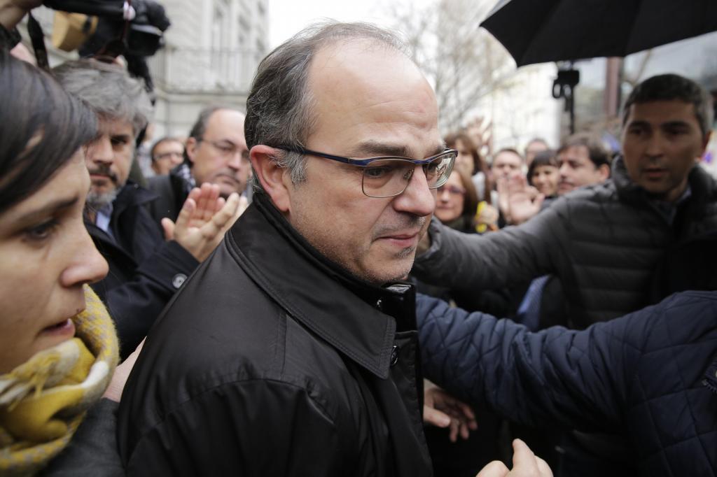 Jordi Turull Entrando al Tribunal Supremo.