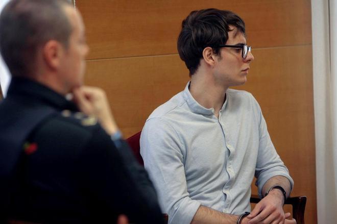 El asesino confeso del crimen de Pioz, Patrick Nogueira, durante una de las sesiones del juicio en la Audiencia de Guadalajara