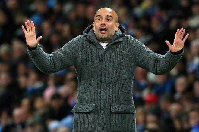 Pep Guardiola, durante un partido reciente.