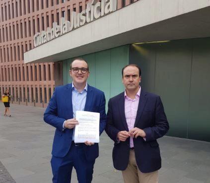 Representantes provinciales del PP en la presentación de la denuncia ante la Fiscalía de Barcelona