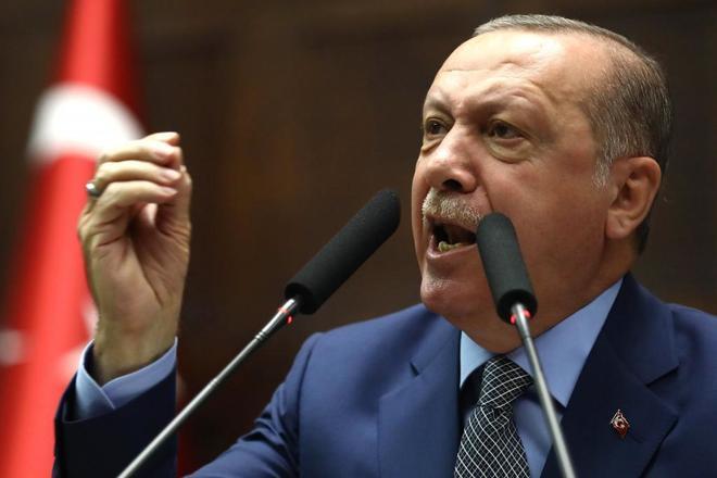 El presidente turco Recep Tayyip Erdogan en Ankara, Turquía.