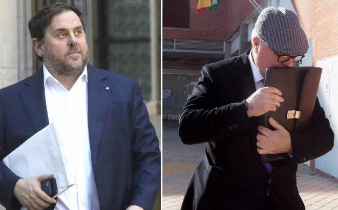 Oriol Junqueras y el comisario retirado José Manuel Villarejo.