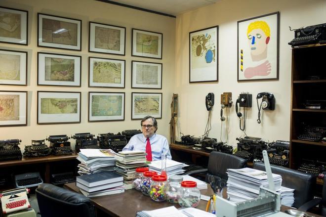 El director de 'La Razón', Francisco Marhuenda, en su despacho.
