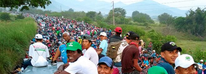 7.000 sueños.  Es el número de migrantes que caminan hacia el 'sueño americano'. Trump ha anunciado que está dispuesto a enviar a 15.000 soldados para frenarlos.