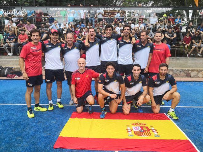 El equipo que representó a España en el Mundial.