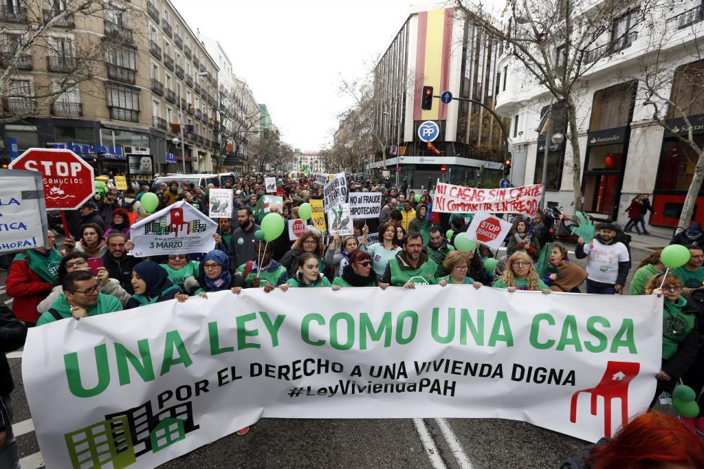 Manifestación de la Plataforma de Afectados por la Hipoteca celebrada en el pasado fin de semana Madrid