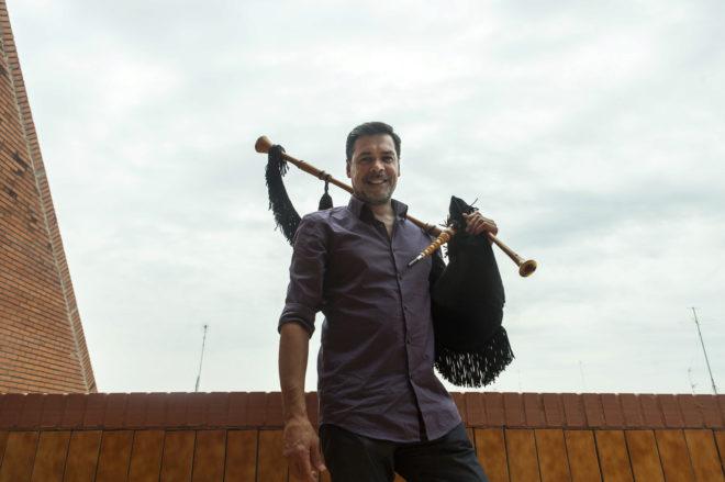 El gaitero asturiano Hevia, fotografiado el pasado mayo.