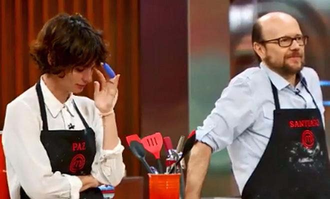 Paz Padilla termina llorando tras las duras palabras de Santiago Segura en MasterChef Celebrity.
