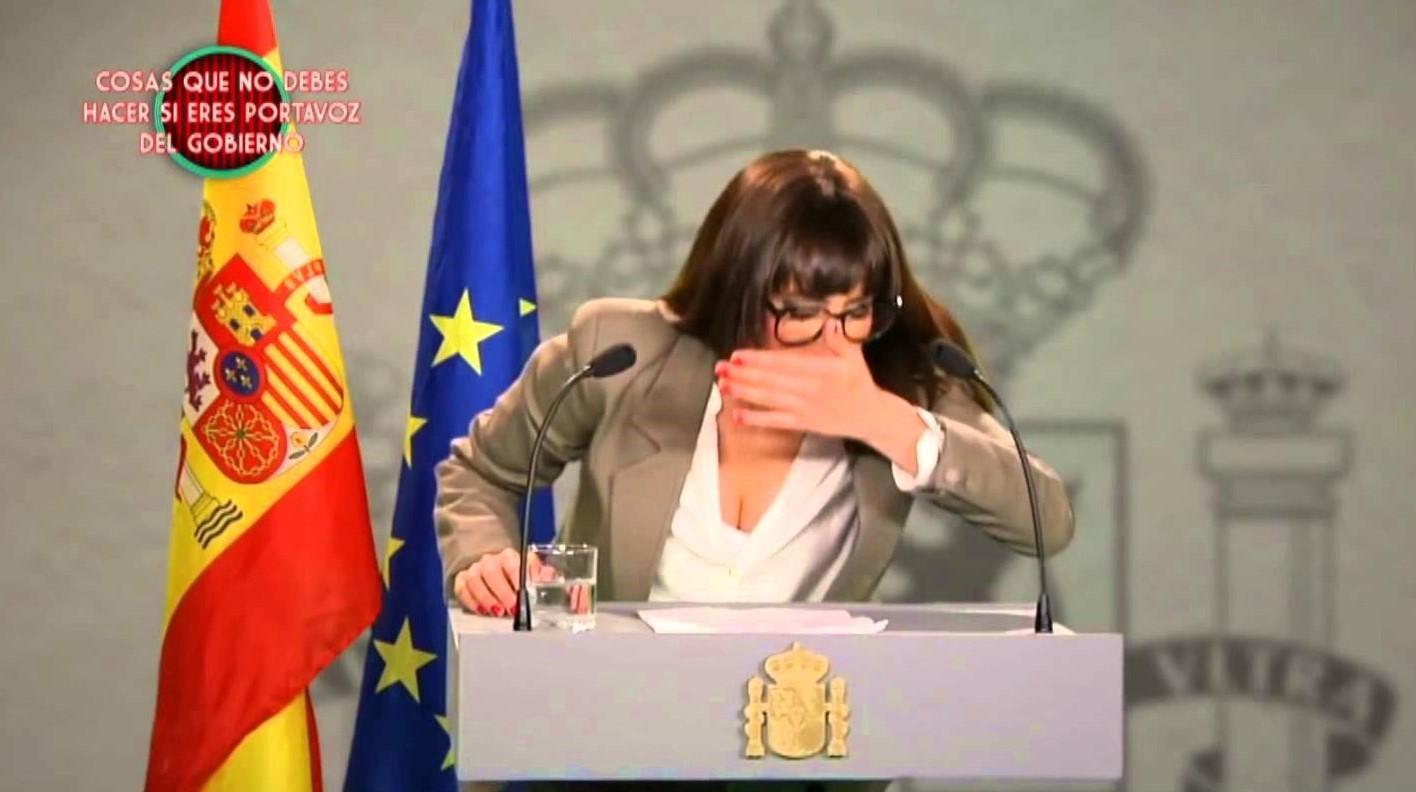 La humorista Ana Morgade en el 'sketch' de El Club de la Comedia, muy...