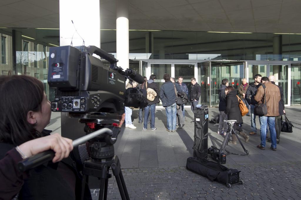 Imagen de archivo de la entrada de la Ciutat de la Justícia en Barcelona