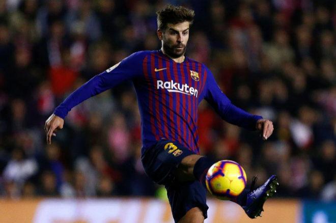 El jugador del FC Barcelona Gerard Piqué durante el último partido...