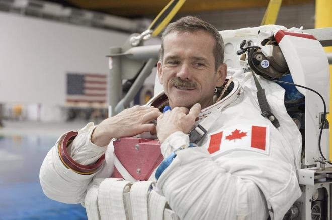 El astronauta canadiense Chris Hadfield