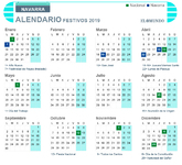 Calendario laboral de Navarra para 2019