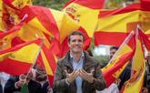 El presidente del PP, Pablo Casado, en un acto de Nuevas Generaciones...