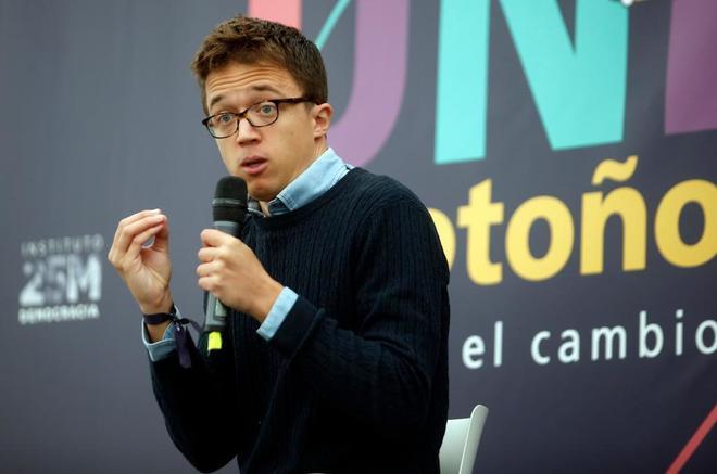 Íñigo Errejón, en un acto de Podemos celebrado el pasado octubre en...