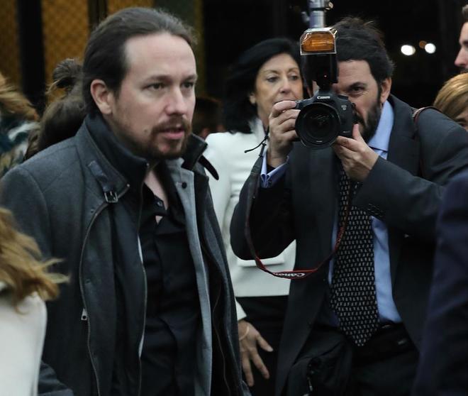 Pablo Iglesias, en un acto celebrado en Madrid este lunes por la...