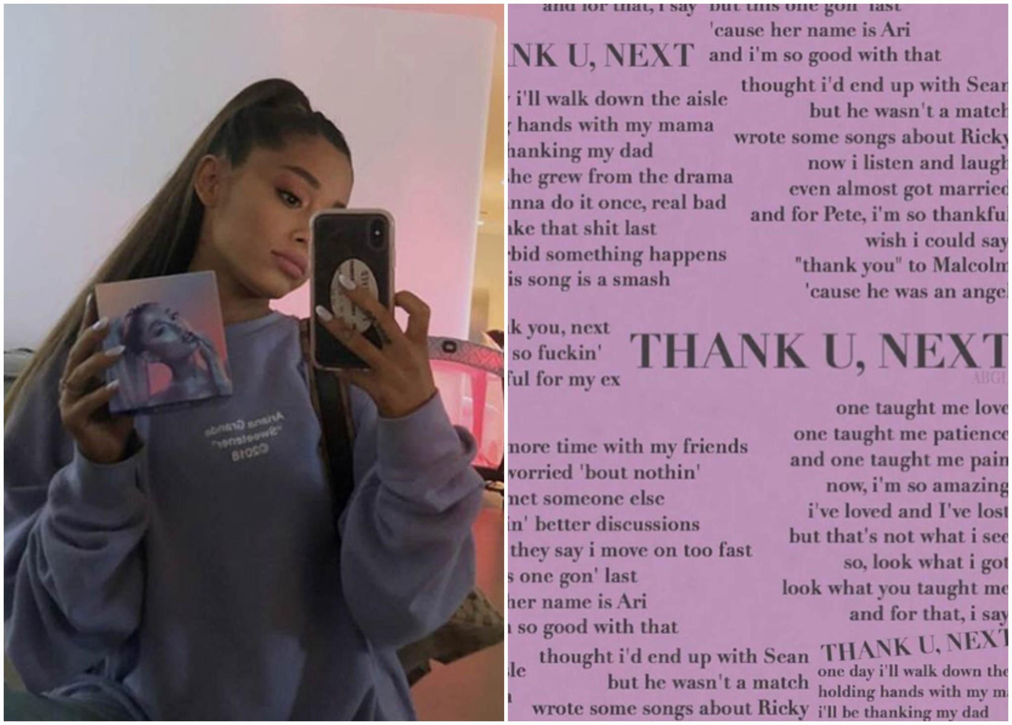 El nuevo álbum de Ariana Grande se titulará Thank U, Next, como su...