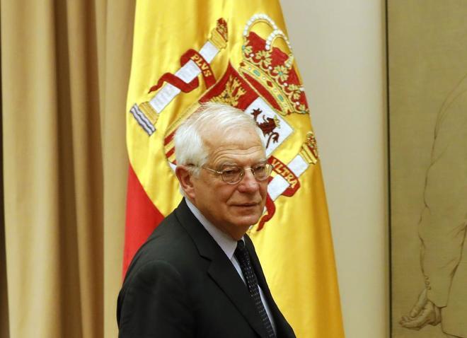 El ministro de Asuntos Exteriores, Josep Borell, durante una...