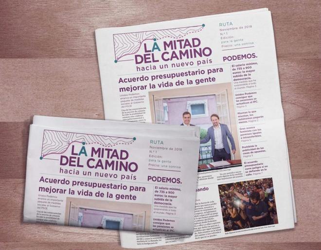El periódico que ha lanzado Podemos bajo el título 'La mitad del...