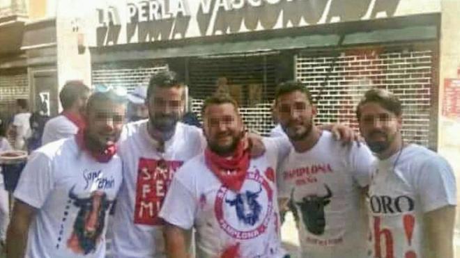 Ángel Boza, Jesús Escudero, José Ángel Prenda, Antonio Manuel Guerrero y Alfonso Jesús Cabezuelo.