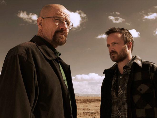 Bryan Cranston y Aaron Paul, protagonistas de Breaking Bad