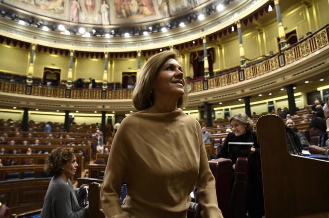 María Dolores de Cospedal en el Congreso de los Diputados