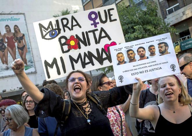 Concentración de protesta, el pasado junio en Valencia, contra las...