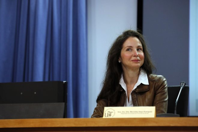 La juez Mercedes Alaya, en una conferencia en Sevilla en marzo de 2016.