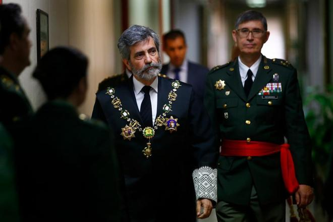 Carlos Lesmes, presidente del Tribunal Supremo, en un acto en el...