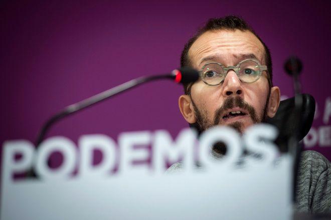 El secretario de Organización de Podemos, Pablo Echenique, durante...