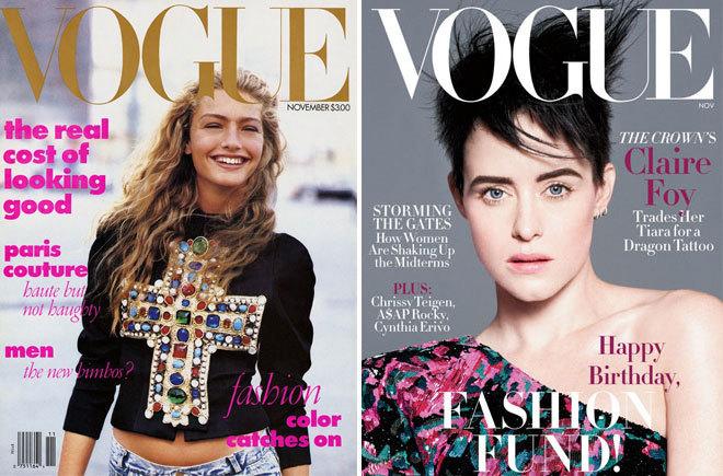Portada de Vogue de noviembre de 1988 y portada de Vogue de noviembre...