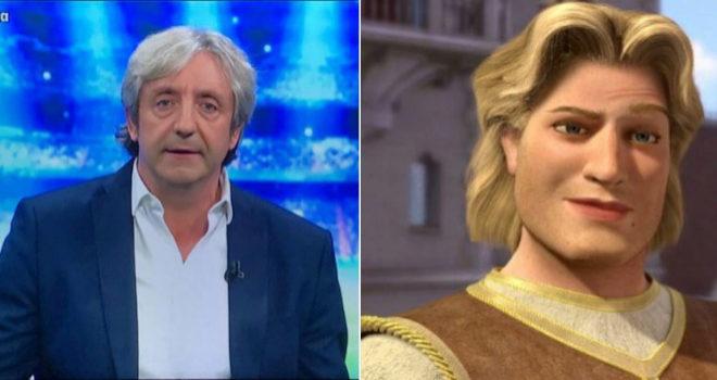 Josep Pedrerol comparado con el príncipe de Shrek en uno de los memes
