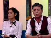 Miriam Saavedra y Ángel Garó durante la discusión en el salón de...