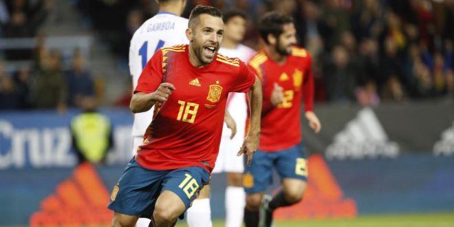 Jordi Alba, en uno de sus últimos partidos con la selección española.