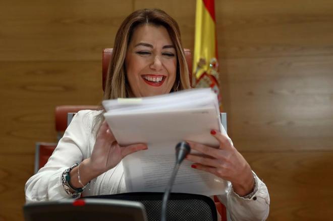 Susana Díaz, en el Senado este jueves.