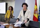 La ministra portavoz del Gobierno, Isabel Celaá, tras el Consejo de...