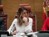 La presidenta de la Junta de Andalucía, Susana Díaz, en una...