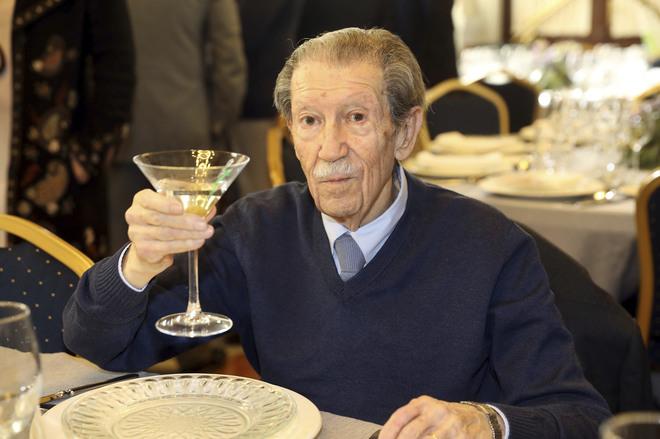 Manuel Alcántara celebrando su 90 cumpleaños el pasado mes de enero de 2018