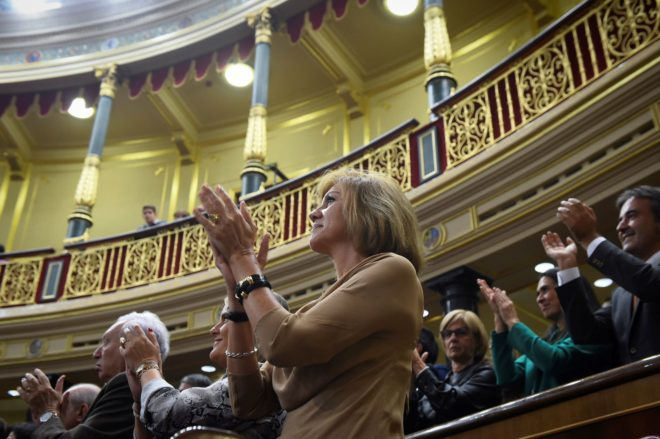 La ex secretaria general del PP, María Dolores de Cospedal, en un...