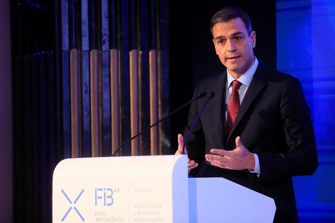 Pedro Sánchez, en su intervención el XIX Edición del Foro Iberoamericano.