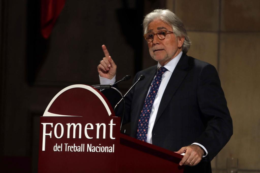 El empresario y expolítico Josep Sánchez Llibre, tras ser elegido nuevo presidente de Foment del Treball, durante la asamblea general de la entidad que se se celebra esta tarde en Barcelona.