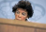 La ministra de Educación y FP y portavoz del Gobierno, Isabel Celaá, en rueda de prensa posterior al Consejo de Ministros.