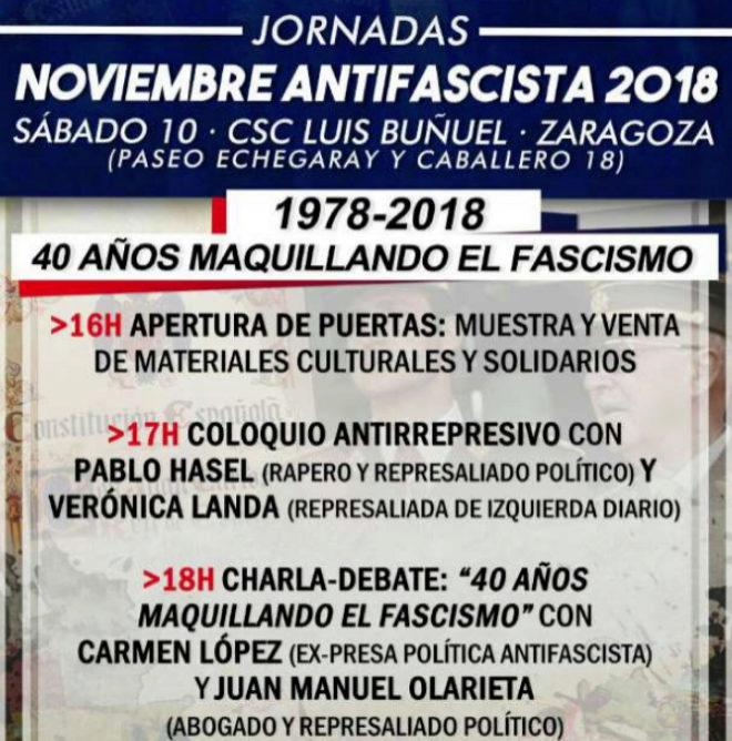 El cartel anunciador de la conferencia de Carmen López, presentada...